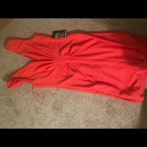 Express coral dress size 4
